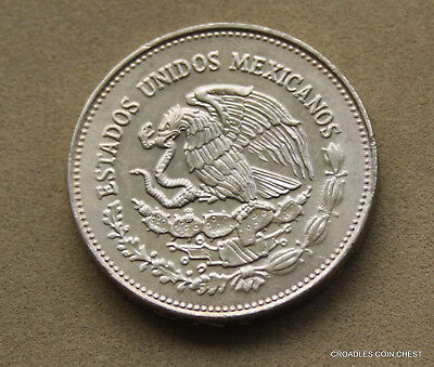 Mexico Nickel $200 Peso's 1985  175Th Anniversary Independence World Coin #bes40