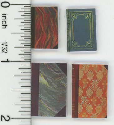 Dollhouse Miniature 1:12 Scale Four Ornate Designed Books