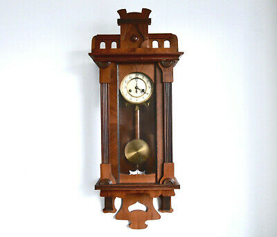 Gustav Becker Antique wall Clock Art Nouveau Style  Oak case 1900s