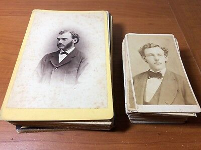 Antique Lot of Over 75 Cabinet Card CDV Photos US Portraits