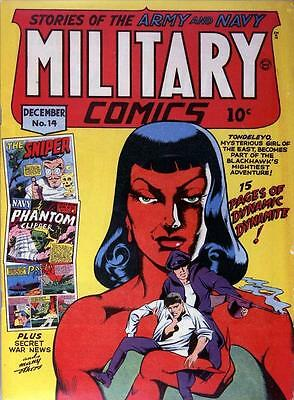 Military Comics #14 Photocopy Comic Book, Blackhawk, The Sniper