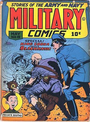 Military Comics #19 Photocopy Comic Book, Blackhawk, The Sniper