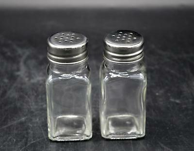 Clear Glass Salt and Pepper Shakers with Lid