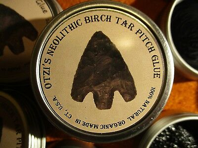 Birch Bark Pitch Otzi's Neolithic Tar Glue Premium 0.56 oz. soft sticky 15.8 gr