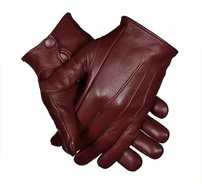 Men's Leather Costume Dress Gloves Unlined Medieval Formal Victorian Steampunk