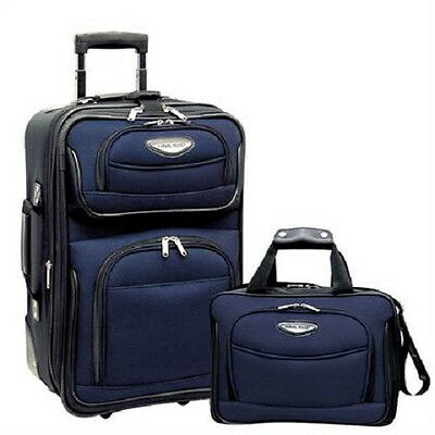 2 Pc Expandable Luggage Set Carry On Tote Rolling Wheels Travel Bag Suitcase Men