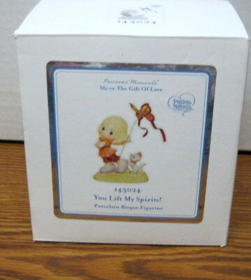 "Precious Moments ""YOU LIFT MY SPIRITS"" #143024 Porcelain Bisque Figurine 2014"