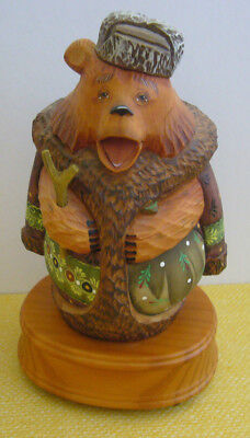 2000 G DeBrekht LE CELEBRATION BEAR Music Box First in the Forest Friends Series