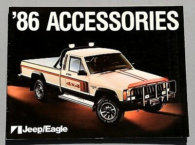 """Original 1986 Jeep/Eagle Accessories Brochure ~ 20 Pages ~ 12"""" By 9"""" ~ 86Jpacc"""