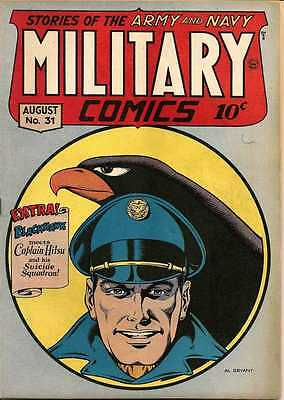 Military Comics #31 Photocopy Comic Book, Blackhawk, The Sniper