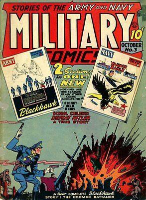 Military Comics #3 Photocopy Comic Book, Blackhawk