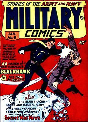 Military Comics #6 Photocopy Comic Book, Blackhawk, The Sniper