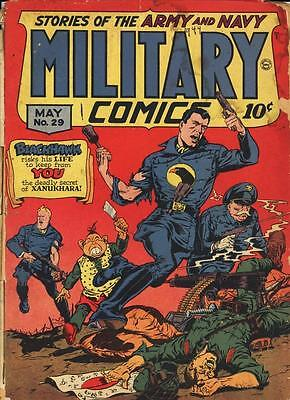Military Comics #29 Photocopy Comic Book, Blackhawk, The Sniper
