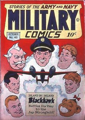 Military Comics #43 Photocopy Comic Book, Blackhawk