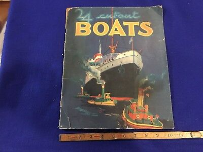 childrens book BOATS 24 CUTOUTS