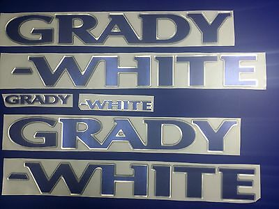 "Grady-White boat Emblem 40"" chrome blue + FREE FAST delivery DHL express"