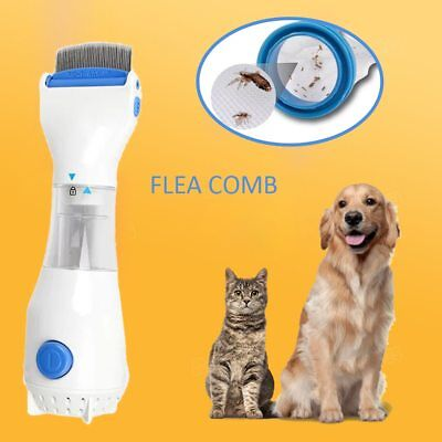 Electronic Electric Comb Puppies Fleas Treatment Safe Pets Kill for Dogs Cats