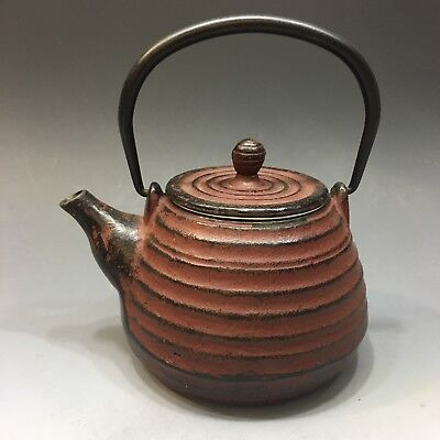 Vintage Cast Iron Japanese Teapot Kettle