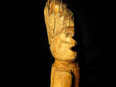 Collectible Native American Indian Artifact Authentic Comanche Effigy Stick