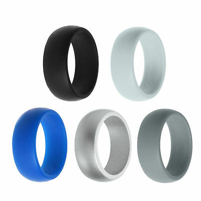 4pcs Silicone Wedding Engagement Ring Men Women Rubber Band  Sport Flexible