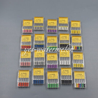 1X Dental Endodontic K-files #06-80# For Endo Root Canal Hand Use 21/25/31mm