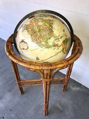 "Replogle 16"" Floor Globe World Classic Series Raised Relief Topographical 38"" T"