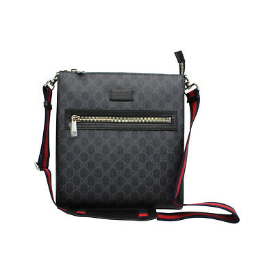 a5fb6c89b14091 GUCCI Men's GG Supreme Small Messenger Bag - 100% Authentic Brand New $850  MSRP
