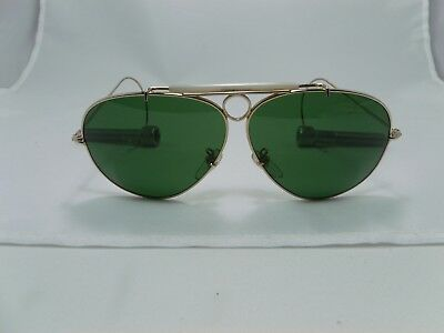 e9c00db9a0a Tasco Shooting Aviators Sunglasses Green Lens Made In Japan