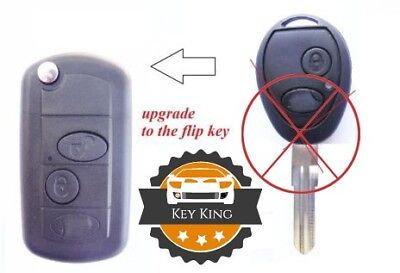 LAND ROVER DISCOVERY 2 TD4 TD5 75 2 button flip conversion key remote upgrade
