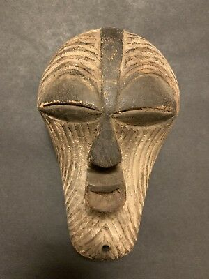 """Charming Old Songye Passport Mask. Approximately 8"""" Tall."""