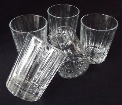 5 D'arques /durand Crystal Stanford Double Old Fashioned / On The Rocks Glasses