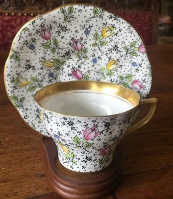 """Rosina Bone China Cup & Saucer Made In England """"June"""""""