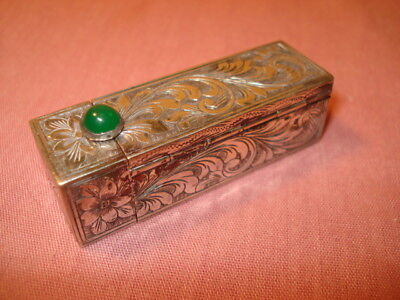 Ornate 800 Silver lipstick Holder