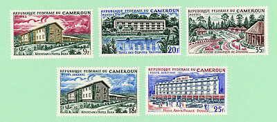 Cameroun 5 stamps, SC 432 - 434, C63 - C64, Hotels, Health Center, 1966,  MPH