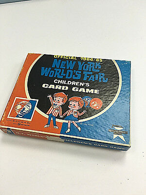 Vintage 1964 / 1965 NEW YORK WORLD'S FAIR Children's CARD GAME  Genuine Box MINT