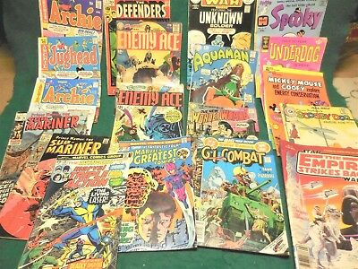 Mixed Lot of 18 Different Vintage Comics-Marvel, DC, National, others. F/VF