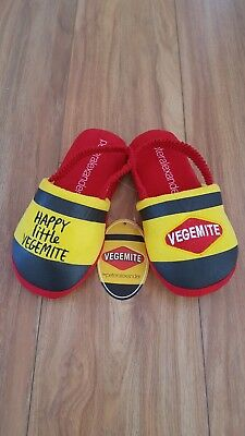 PETER ALEXANDER PJS Unisex Kids Vegemite Slippers XS,S,M BNWT PJ Boy Girl scuffs