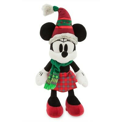 "Disney Parks Authentic Minnie Mouse Nordic Winter Holiday Plush 15"" H Soft Nwt"
