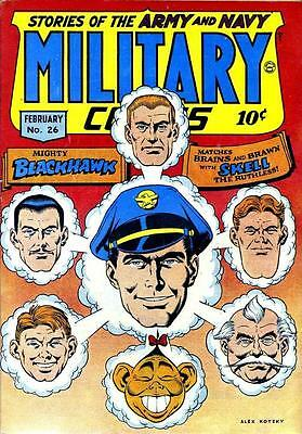 Military Comics #26 Photocopy Comic Book, Blackhawk, The Sniper