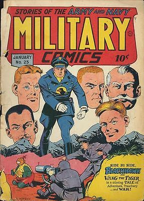Military Comics #25 Photocopy Comic Book, Blackhawk, The Sniper