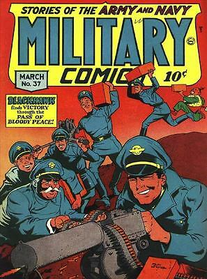 Military Comics #37 Photocopy Comic Book, Blackhawk, Death Patrol
