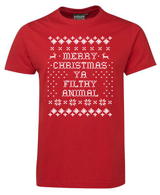 MERRY CHRISTMAS YA FILTHY ANIMAL Tshirt kids adults Xmas T-shirt gift Present 1