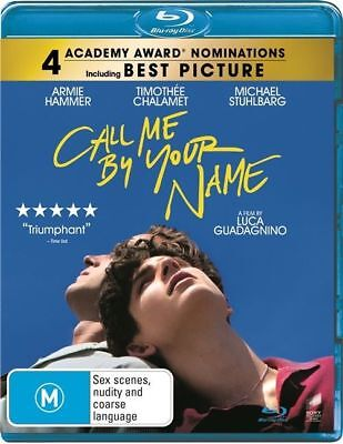 CALL ME BY YOUR NAME (Blu-ray, 2018) [BRAND NEW & SEALED]