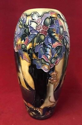 Moorcroft Vase - Knightswood Pattern By Rachael Bishop - 19cm - Great Condition