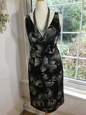 Hobbs, Cotton & Silk, Black Montpelier, Floral, Lined Dress, BNWT, Size S (8)