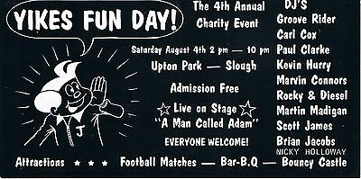 YIKES FUN DAY Rave Flyer Flyers 4/8/90 A5 Upton Park Slough Rare Acid House