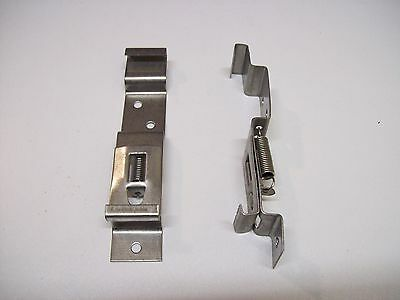 2  Numberplate Plate Clips Ifor Williams Trailers Horse BoxPlant Boat stainless