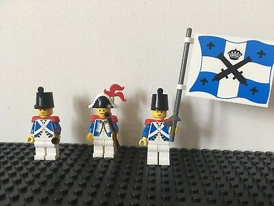 LEGO 3 x Imperial Guards Red Coats Pirate Minifigures with Swords /& Rifles NEW