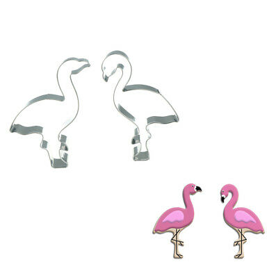 Flamingo Shape Fondant Cookie Cutters Cake Decorating Biscuit Baking Molds WL EB