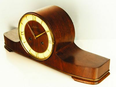 Beautiful Later Art Deco Design Chiming Mantel Clock From Junghans